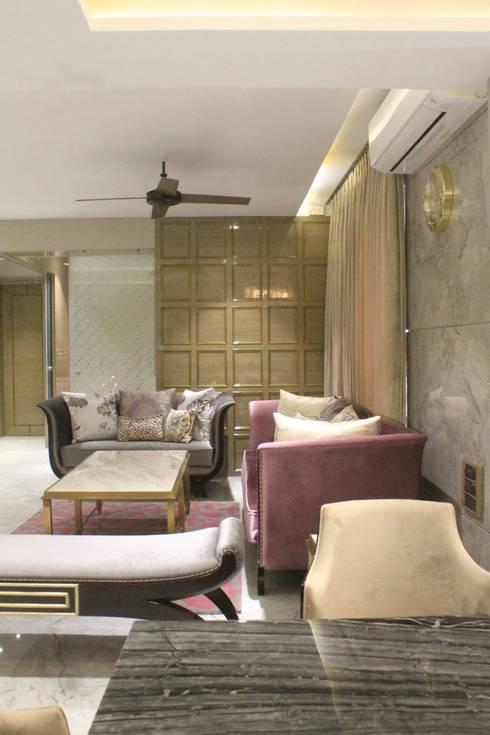 ETHNIC TOUCHE: asian Living room by MIDAS DESIGN STUDIO