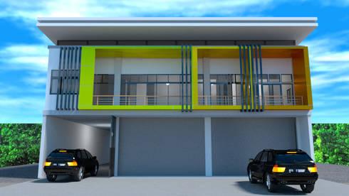 ออกแบบ 3d อาคารพานิชย์ 2ชั้น:  บ้านและที่อยู่อาศัย by mayartstyle