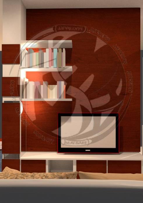 ออกแบบ 3d    style modern:  ห้องนั่งเล่น by mayartstyle