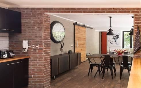 modern Living room by RENOarq