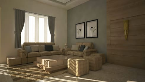 residence interior design: modern Living room by Artist Inside