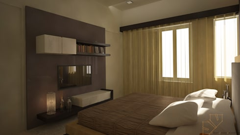 residence interior design: modern Bedroom by Artist Inside