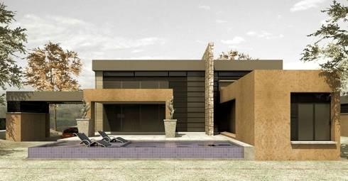 CASAS CASTRO PERAFAN: Casas de estilo moderno por Elite Arquitectura y Asoc. SAS.