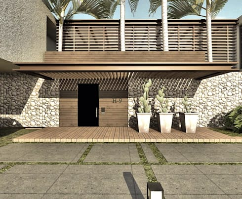CASA H-9: Casas de estilo minimalista por Elite Arquitectura y Asoc. SAS.
