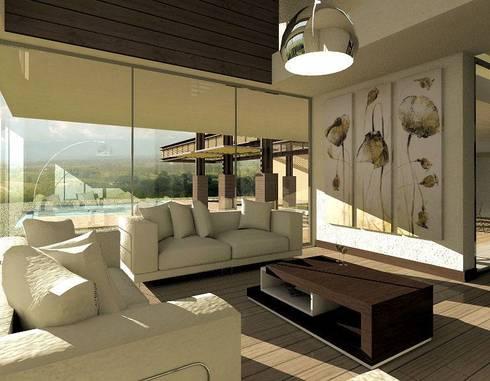 CASA H-9: Casas de estilo moderno por Elite Arquitectura y Asoc. SAS.