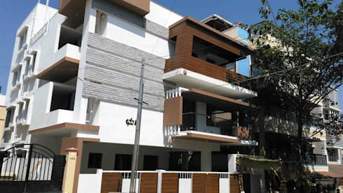Existing exterior photo-2: modern Houses by SAHHA architecture & interiors