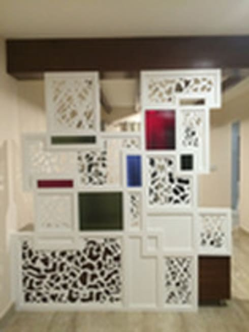 Designer Partition: modern Living room by Vedasri Siddamsetty