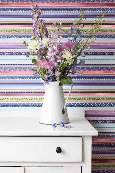 Paredes y suelos de estilo  por Papel pintado para paredes Gaulan