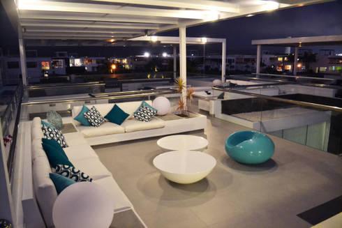 Terraza segundo piso: Terrazas de estilo  por DMS Arquitectas