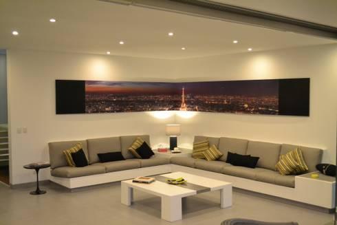 Sala Principal: Salas / recibidores de estilo moderno por DMS Arquitectas