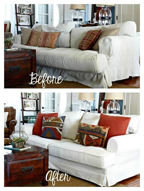 Classic Living Room By Comfort Works Custom Slipcovers