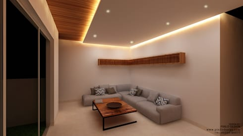Residential: modern Living room by Pixilo Design