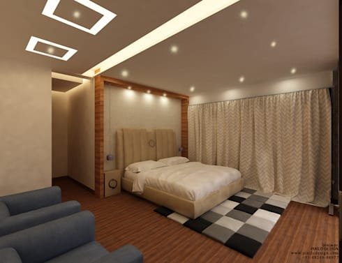 Residential: modern Bedroom by Pixilo Design