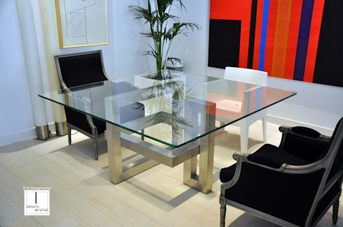 L nea alto dise o mesas de comedor de gonzalo de salas for Mesas de comedor cuadradas modernas