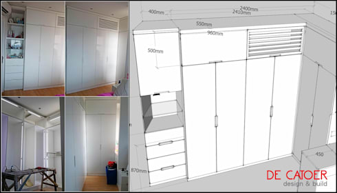 Wardrobe / Lemari pakaian:  Bedroom by De' Catoer design & build