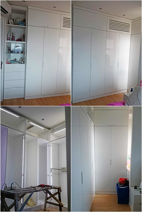 Wardrobe:  Bedroom by De' Catoer design & build