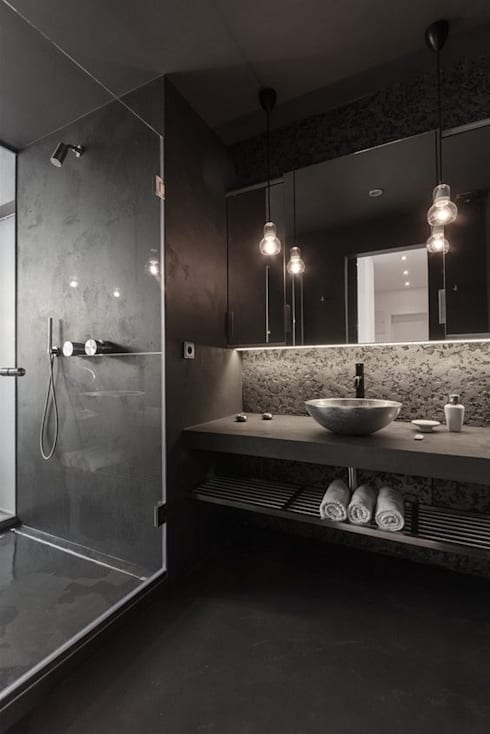 BATH ROOM: modern Bathroom by Archie-Core