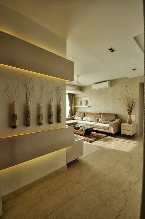 Apartment  in Bandra:  Living room by Karyam Designs