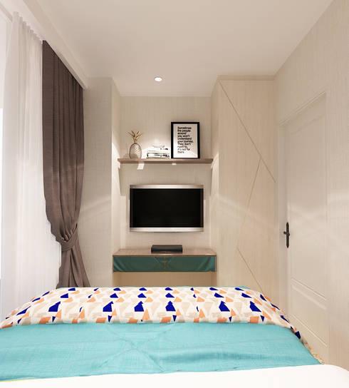 Studio Apartment – Art Deco:  Kamar Tidur by iugo design
