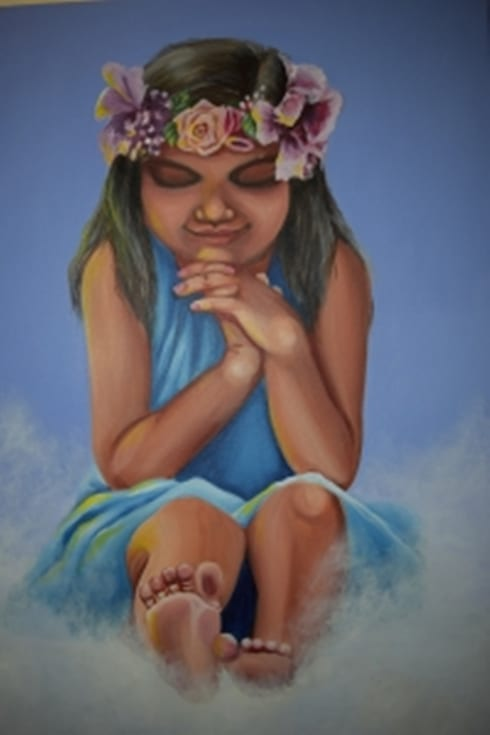 Little Angel:  Artwork by Indian Art Ideas