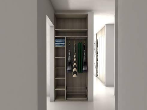 Diseño de Vestier y Closets, La Trinidad, Caracas:  de estilo  por Madea c.a.