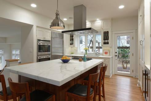 Stylish First-Floor Bungalow Renovation in Arlington, VA : minimalistic Kitchen by BOWA - Design Build Experts