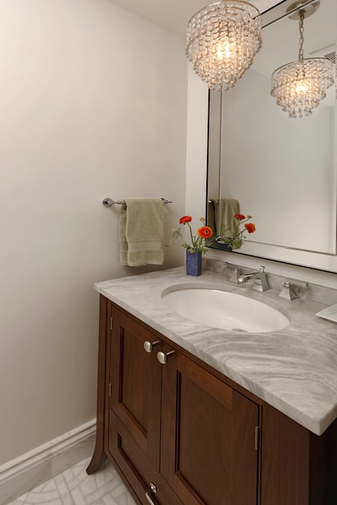 Stylish First-Floor Bungalow Renovation in Arlington, VA :  Bathroom by BOWA - Design Build Experts
