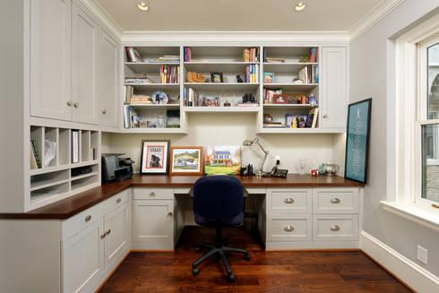 Luxury Kalorama Condo Renovation in Washington DC: minimalistic Study/office by BOWA - Design Build Experts