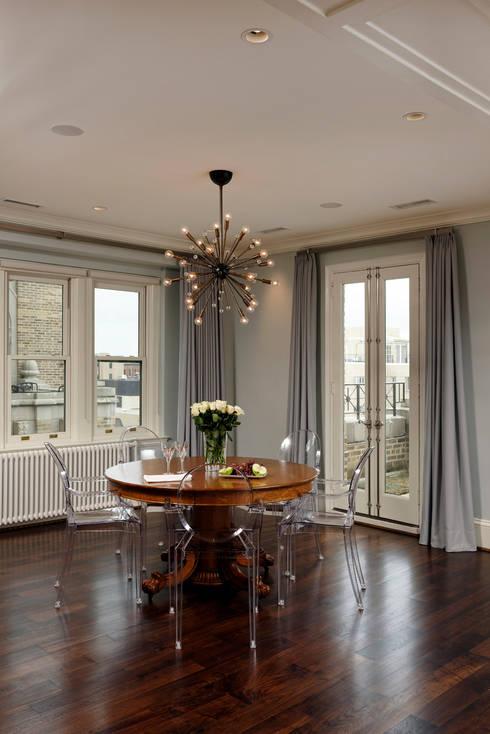 Luxury Kalorama Condo Renovation in Washington DC: minimalistic Dining room by BOWA - Design Build Experts