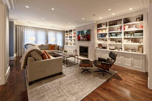 Luxury Kalorama Condo Renovation in Washington DC: minimalistic Living room by BOWA - Design Build Experts