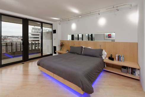 Contemporary Washington, DC Condominium Renovation: modern Bedroom by BOWA - Design Build Experts