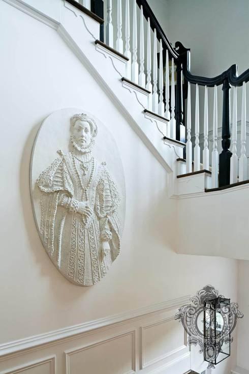 Stairway:  Corridor & hallway by Kellie Burke Interiors
