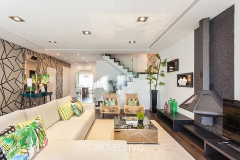mediterranean Living room by Movelvivo Interiores