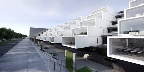 Facultad de Arquitectura: Oficinas de estilo minimalista por ARCHITECTS