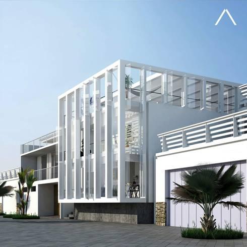Cada en la Honda : Casas de estilo minimalista por ARCHITECTS