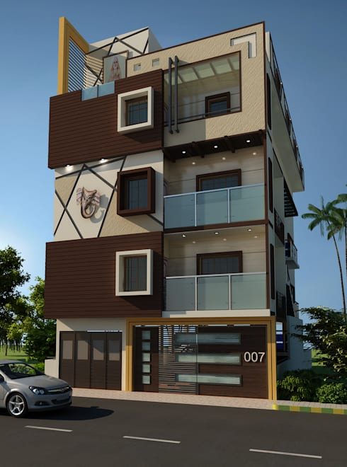 Residence OF Mr.Raghav:  Houses by A-Z Architects & Vaastu
