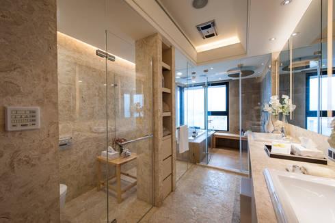 NO.23 W宅:  浴室 by 汎羽空間設計