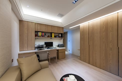 NO.23 W宅:  書房/辦公室 by 汎羽空間設計