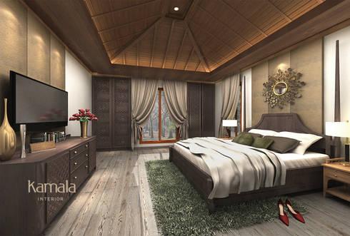 Private Residence @ Karawaci:  Kamar Tidur by Kamala Interior