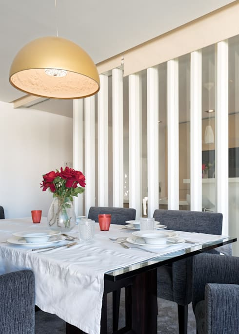 Salas de jantar modernas por homify