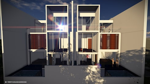 Cipete Townhouse:  Rumah by FerryGunawanDesigns