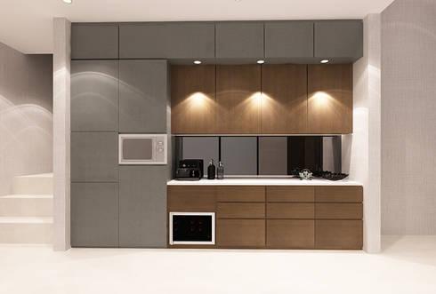Lance wood @ Navapark BSD:  Dapur by iugo design