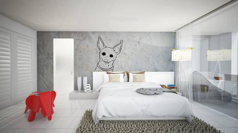 G House:  Kamar Tidur by Atelier Ara