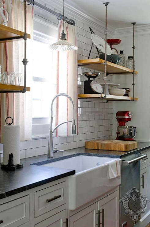 Kitchen Sink: industrial Kitchen by Kellie Burke Interiors