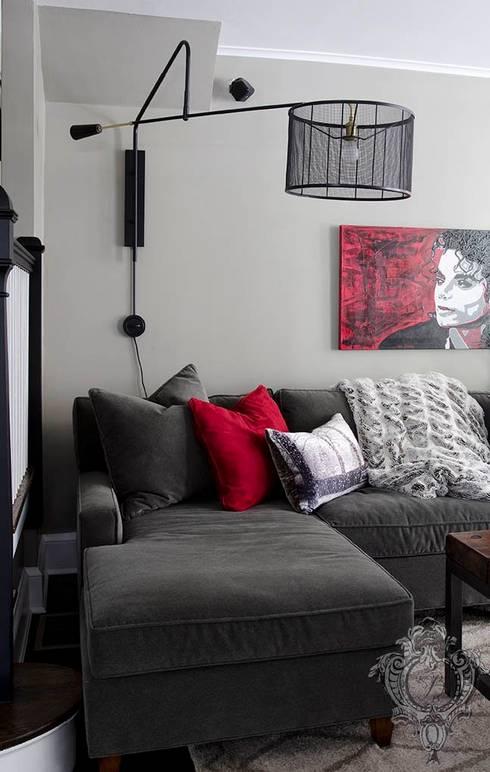 Living Room: industrial Living room by Kellie Burke Interiors