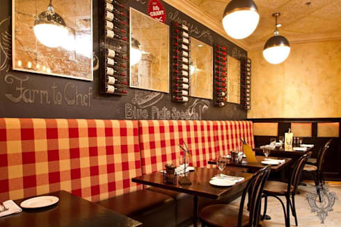 Restaurant Booths:  Commercial Spaces by Kellie Burke Interiors
