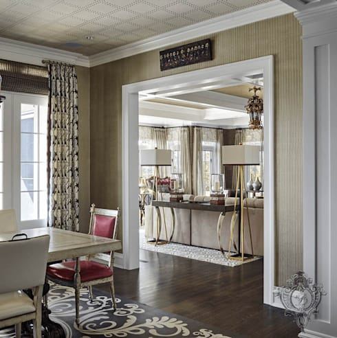 Dining Room: classic Dining room by Kellie Burke Interiors