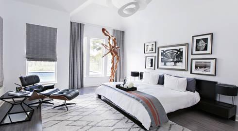 Elegante: Habitaciones de estilo moderno por Claudia Luján