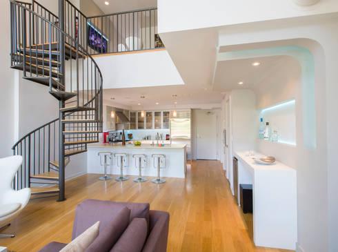 Loft in Arlington : modern Kitchen by FORMA Design Inc.