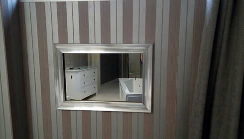 Mirror TV: modern Bathroom by AVEL